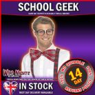 FANCY DRESS ACCESSORY # ADULT INSTANT SCHOOL GEEK DRESS UP KIT